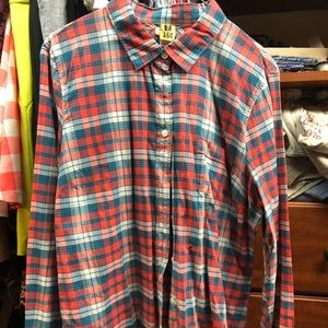 Nice jcrew plaid shirt